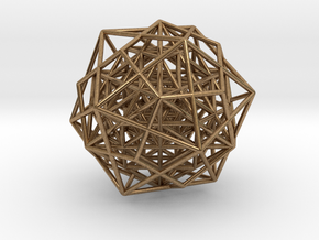 """Nested Building Blocks 2.2"""" in Natural Brass"""