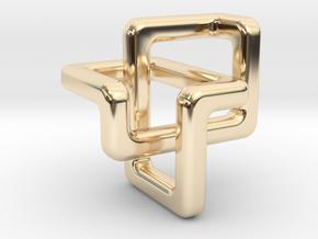 Trefoil Pendant in 14k Gold Plated Brass