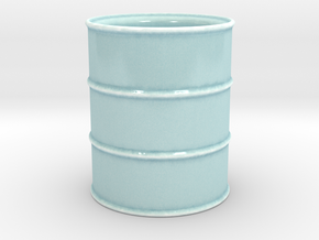 Oil Barrel Espresso Cup in Gloss Celadon Green Porcelain