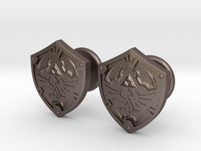 Hylian Shield Cufflinks in Stainless Steel