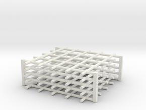 Rebar Grid 4 Feet x 4 Feet 1-87 HO Scale  in White Natural Versatile Plastic