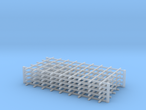 Rebar Grid 4 Feet x 8 Feet 1-87 HO Scale  in Smooth Fine Detail Plastic