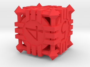 D6 - Andrew Bell 3d - Geometric Design 1 in Red Processed Versatile Plastic