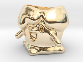 Litwick Candleholder in 14k Gold Plated Brass