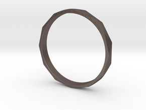 Iron Ring Size 16 in Polished Bronzed Silver Steel
