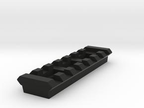 7 Slots Rail (Pre-Drilled) in Black Natural Versatile Plastic
