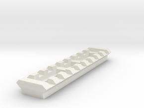 9 Slots Rail (Pre-Drilled) in White Natural Versatile Plastic