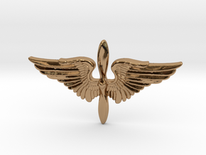 The Prop and Wings in Polished Brass