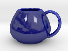 Coffee Mug v1 in Gloss Cobalt Blue Porcelain