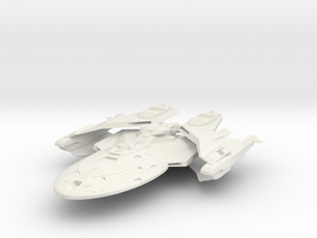 Hartford Class  B Destroyer in White Strong & Flexible