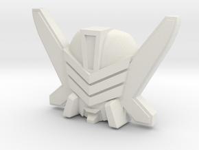 Exhaust / Marlboor Wheeljack Face (Titans Return) in White Natural Versatile Plastic