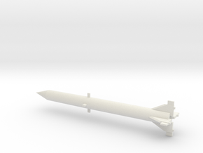 1/72 Scale Redstone Missile in White Natural Versatile Plastic