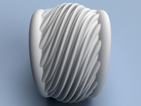 Makin' Waves - Size12 (21.49 mm) in Polished Silver