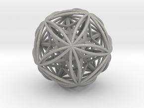Icosasphere w/ Nested Stellated Dodecahedron in Aluminum