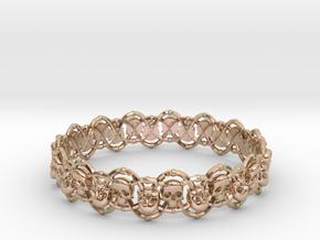 Skull Bracelet in 14k Rose Gold