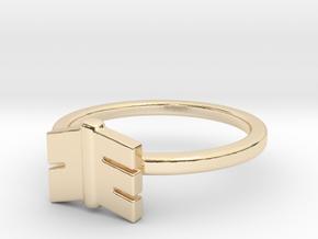 Split Arrow Tail in 14k Gold Plated Brass: Small