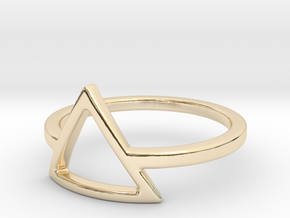 Teepee Ring in 14k Gold Plated Brass: Small