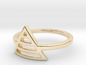 Teepee Stripe Ring in 14k Gold Plated Brass: Small
