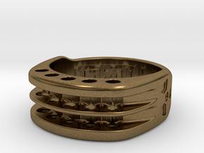 US10.5 Ring XI: Tritium in Natural Bronze