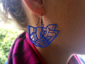 City of Amsterdam earrings in Blue Strong & Flexible Polished