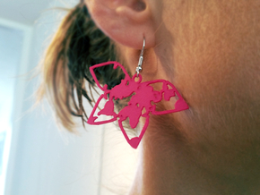 Waterman butterfly earrings in Pink Processed Versatile Plastic