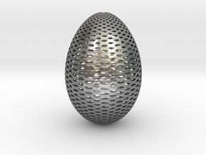 Designer Egg 2 in Natural Silver
