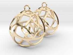 Earrings Spherical Mesh in 14K Yellow Gold