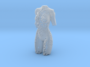Female Torso Pendant in Smooth Fine Detail Plastic