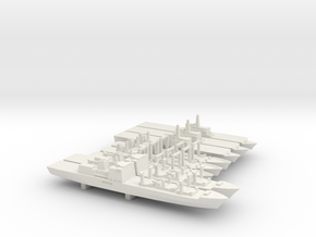 JMSDF Auxiliary Ships Set, 8p, 1/3000 in White Natural Versatile Plastic