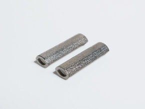 Lace Bar I - Short in Polished Nickel Steel