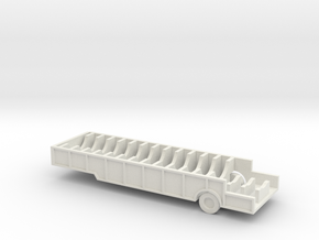 1/110 Scale M482 semitrailer, missile thrust unit, in White Natural Versatile Plastic