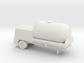 1/110 Scale LO2 And LN2 Tank Trailer in White Natural Versatile Plastic