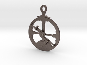 Mariner's Astrolabe  in Polished Bronzed Silver Steel