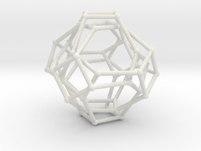 Cayley Graph of the 1x2x3 (octahedron) in White Natural Versatile Plastic