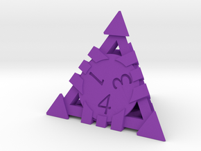 D4 - Andrew Bell 3d - Geometric Design 1 in Purple Processed Versatile Plastic