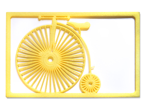 High Wheeler Bicycle Wallet - 2 Cards in Yellow Processed Versatile Plastic