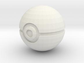 Pokeball in White Natural Versatile Plastic