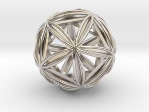 Icosasphere w/ Nested Icosahedron in Platinum