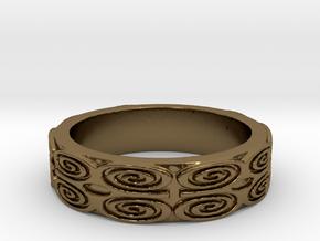 Dwennimmen (strength) Ring Size 7 in Polished Bronze