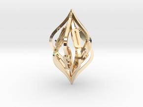 'Kaladesh' D10 Balanced Gaming die in 14k Gold Plated Brass