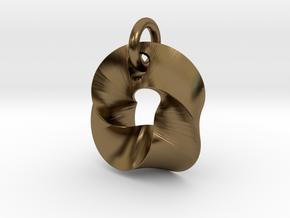 LittleTwisted Pendant  in Interlocking Polished Bronze