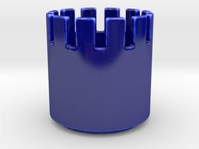Pattern-Bowl-Rustication in Gloss Cobalt Blue Porcelain