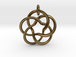 Pentafol starry  in Interlocking Polished Bronze