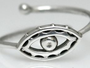 Evil Eye Ring by Bixie Studios in 14k White Gold