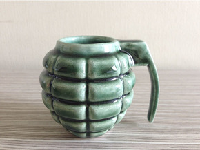 Grenade Espresso Cup in Gloss Oribe Green Porcelain