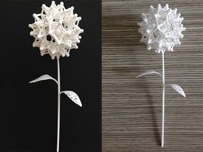 Dandelion Math Art in White Natural Versatile Plastic