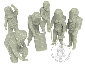 Hazmat Suit Sixpack in White Natural Versatile Plastic: 1:48