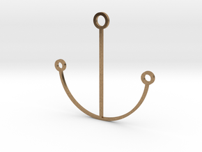 Minimalist Anchor Pendant in Natural Brass
