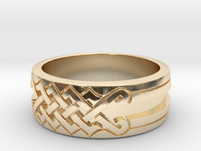 UNITY Ornamental Ring in 14K Yellow Gold: 6 / 51.5