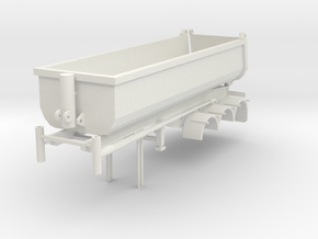 000090 1:87 Australia end dumper in White Natural Versatile Plastic: 1:87